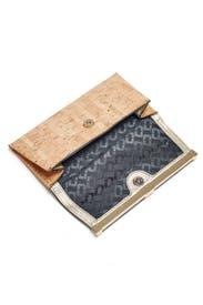 Metallic Cork Envelope Clutch by Diane von Furstenberg Handbags