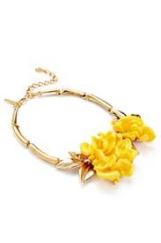 Marigold Resin Flower Necklace by Oscar de la Renta