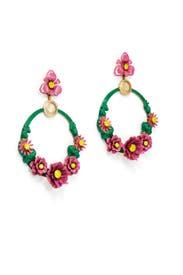 Pink Pearson Earrings by Elizabeth Cole