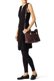 Black Currant Pyramid Satchel by Elizabeth and James Accessories