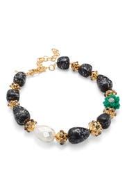 Keepsake Stone Necklace by Lele Sadoughi