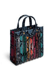 Python Print Multi Stripes Tote by Anya Hindmarch
