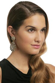 Pave Bouquet Earring by Oscar de la Renta