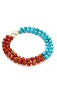 Two-Toned Beaded Layer Necklace by Kenneth Jay Lane