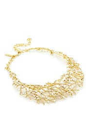 Pearl Bamboo Leaf Necklace by Oscar de la Renta