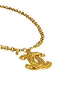 Vintage Chanel CC Pendant Necklace by WGACA Vintage