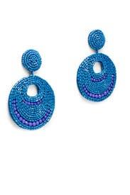 Lapis Gypsy Hoop Earrings by Kenneth Jay Lane