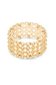 Gold Circle Stretch Bracelet by Slate & Willow Accessories