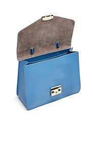 Blue Metropolis Medium Top Handle Bag by Furla
