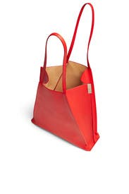 Red Calfskin Tote by Nina Ricci Accessories