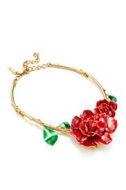Rosette Gold Necklace by Oscar de la Renta