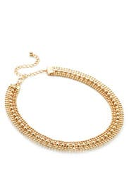 Gold Studded Choker by Slate & Willow Accessories